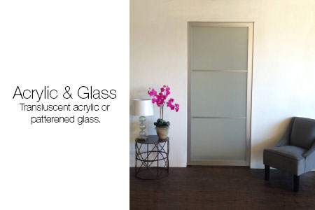 Glass and Acrylic Pocket Doors