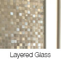 Layered Glass Pocket Doors