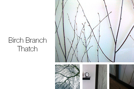 Birch Branch Thatch Room Dividers