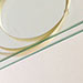 Ellipsed White Wood Ring Ribbon Glass Detail View