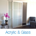 Acrylic And Glass Sliding Closet Doors