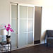 Glass Sliding Closet Doors with Dividers Left View