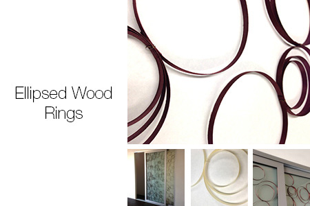 Ellipsed Wood Rings Trapped Series