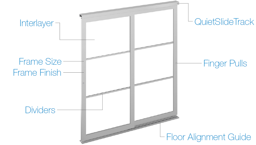 Acrylic and Glass Room Dividers System Options